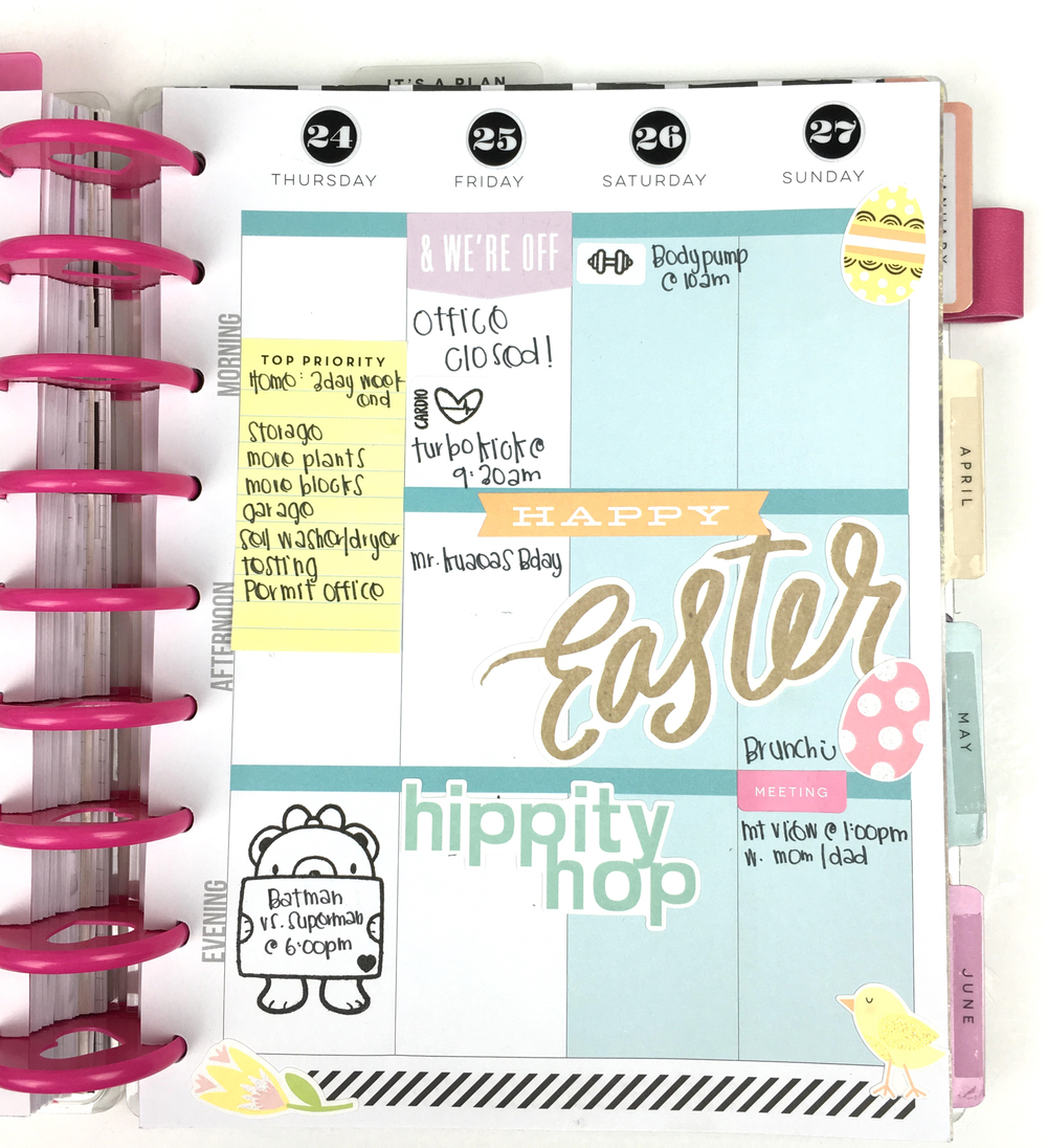 Easter week w/ mambiSTICKS in The Happy Planner™ of mambi Design Team member Chantal Stevens | me & my BIG ideas
