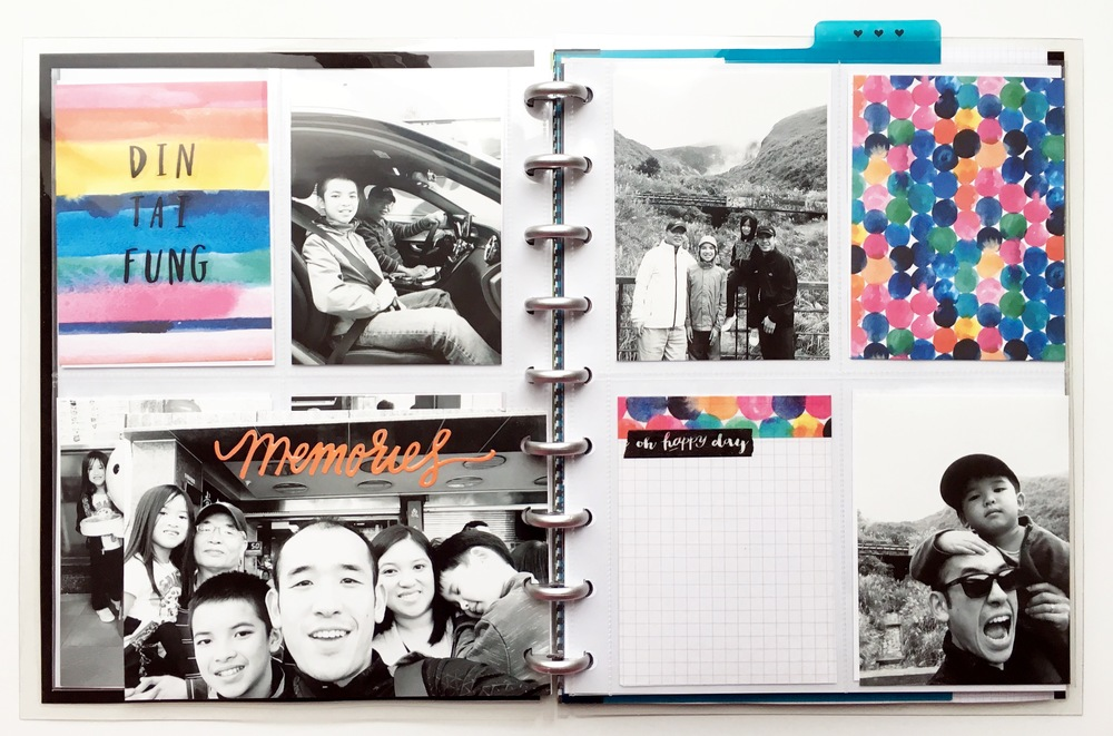 'Our Adventure' POCKET PAGES™ memory album created by mambi Deign Team member Theresa Doan using The Happy Planner™ system | me & my BIG ideas