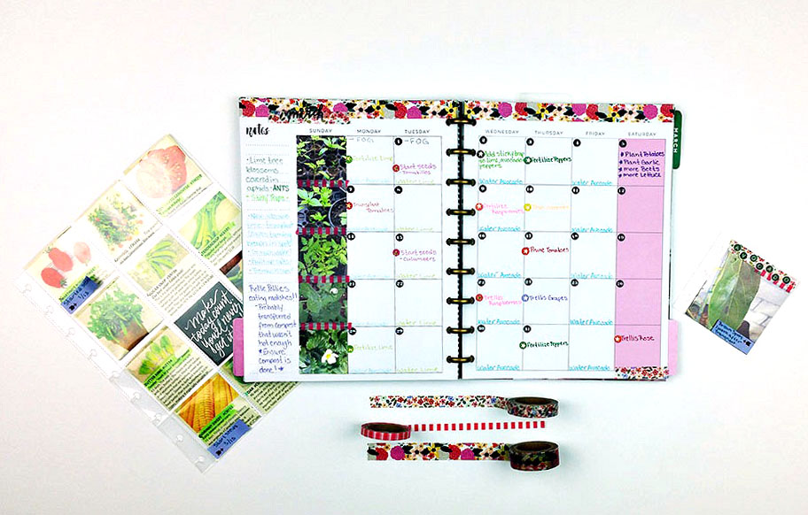 Calendar Square Ideas : The happy planner™ garden calendar journal — me my