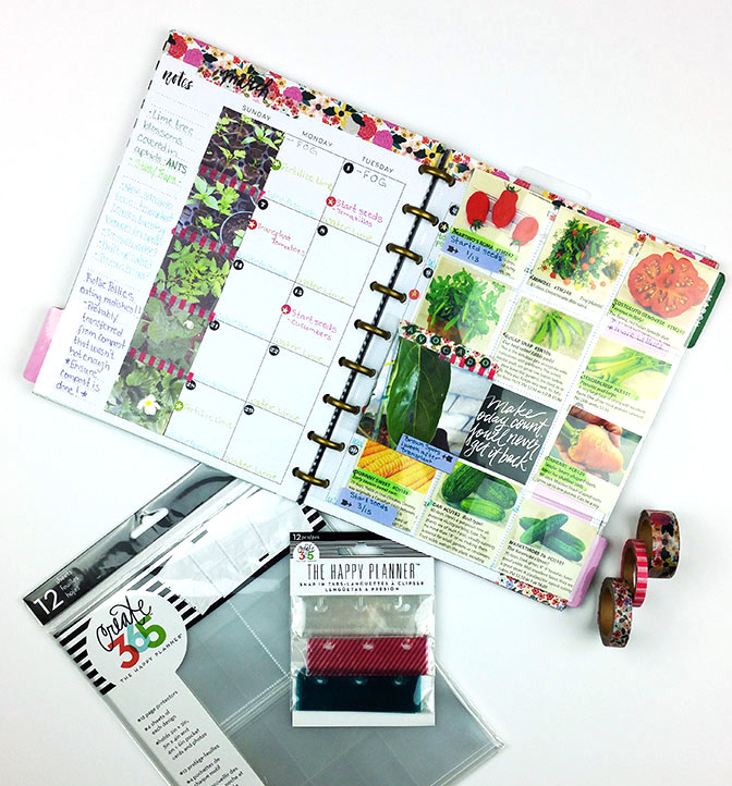 Garden Calendar & Journal in The Happy Planner™ of mambi Design Team member Nicole Lensen | me & my BIG ideas