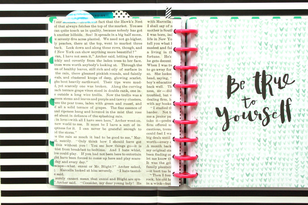 'Choose Joy' custom dashboard in The Happy Planner™ of mambi Design Team member Heather Adams | me & my BIG ideas