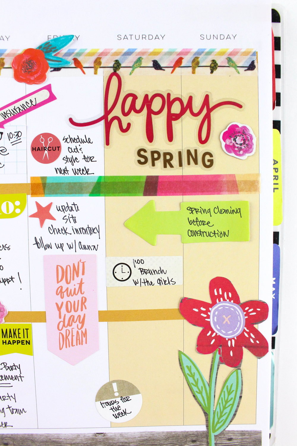 'Happy Spring' week in The Happy Planner™ of mambi Deisgn Team Tiffany Ross | me & my BIG ideas