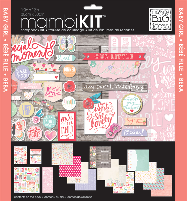 'Baby Girl' mambiKIT scrapbooking kit | me & my BIG ideas.jpg