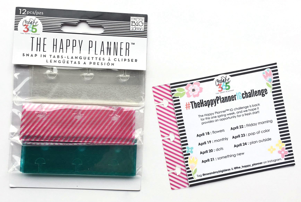 setting up this spring April week in The Happy Planner™ of mambi Design Team member Megan McKenna | me & my BIG ideas