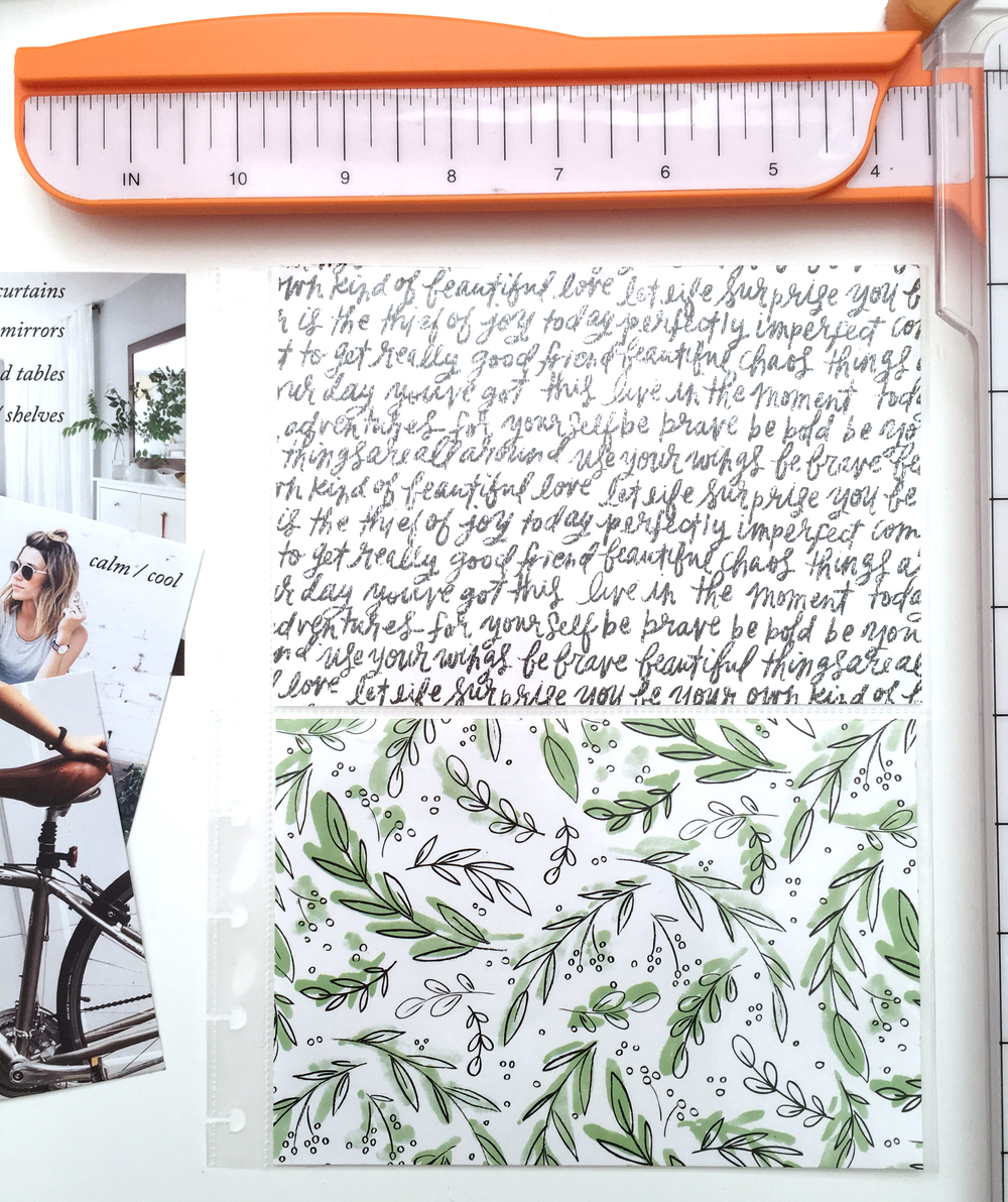 April Inspiration page using the new mambiSHEETS Expandable Paper Pads in The Happy Planner™ of mambi Social Media Coordinator Amanda Rose Zampelli | me & my BIG ideas