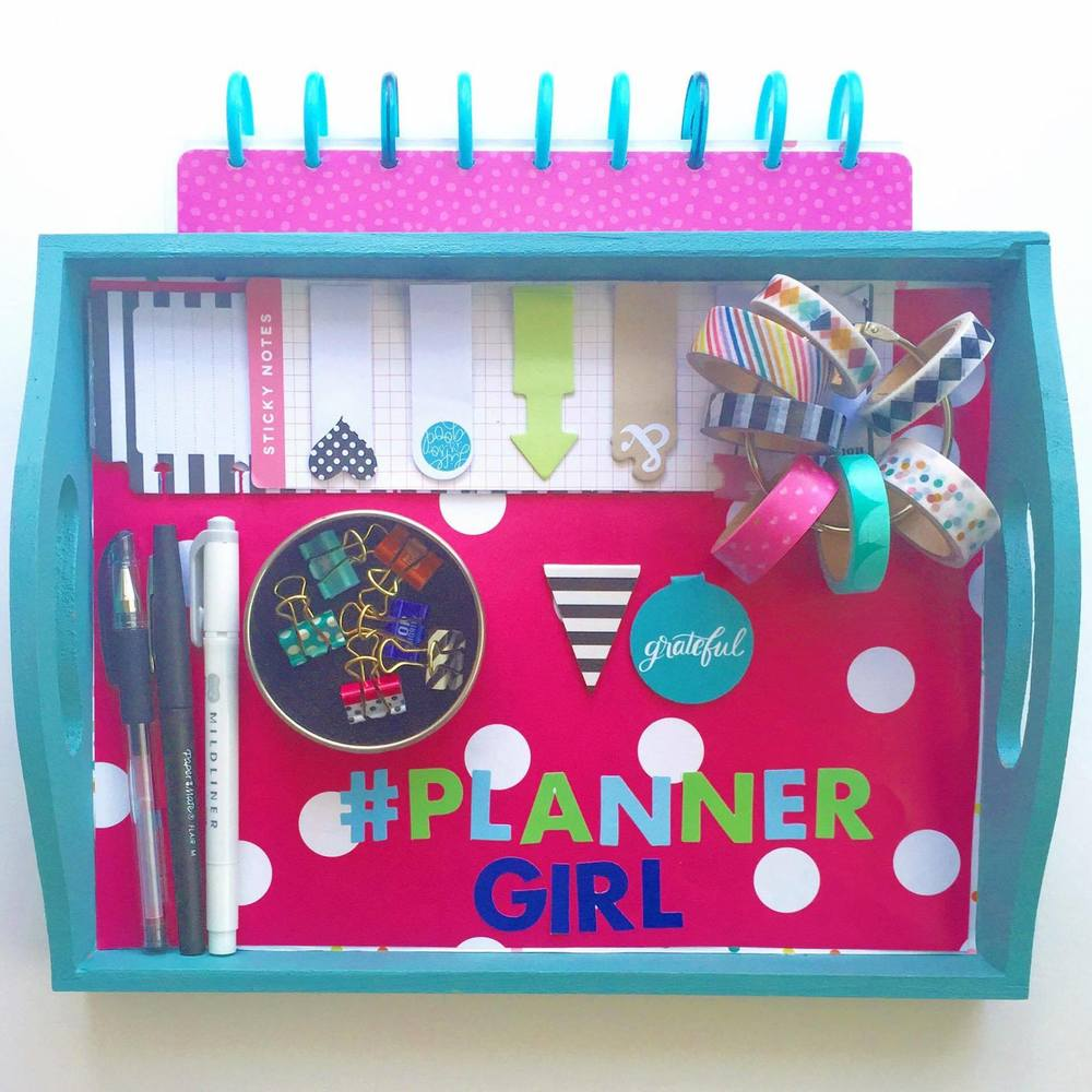 #PlannerGirl tray created by mambi Design Team member Casie Gutierrez using mambiSHEETS Expandable Paper Pads | me & my BIG ideas