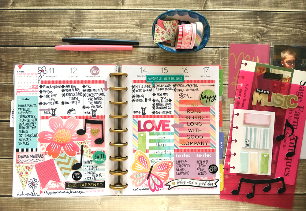 a busy April week in The Happy Planner™ of mambi Design Team member Mary-Ann Maldonado | me & my BIG ideas