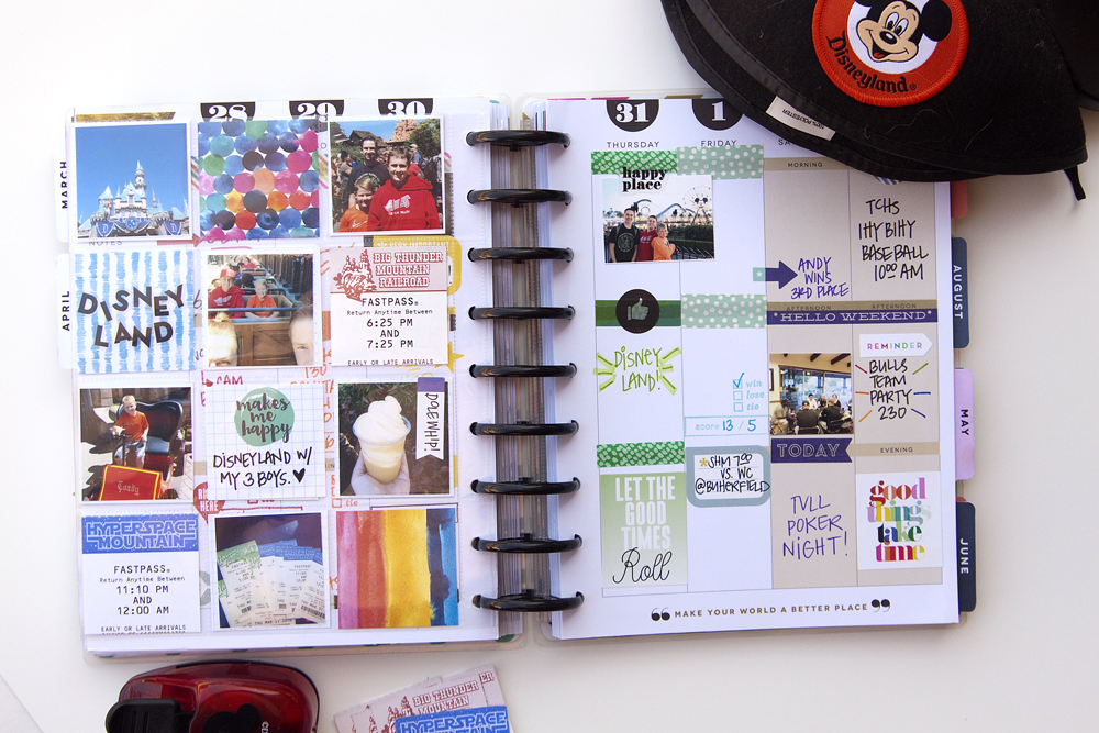 a ROYGBIV memory keeping week in The Happy Planner™ of mambi Design Team member Jennie McGarvey | me & my BIG ideas