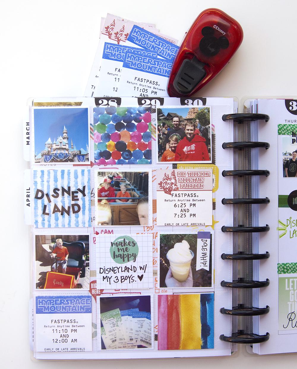 a ROYGBIV memory keeping week in The Happy Planner™ of mambi Design Team member Jennie McGarvey | me & my BIG ideas