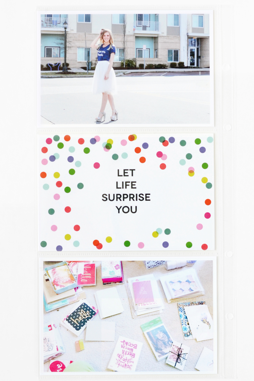some of the pages in mambi Design Team member Laura Crosby's POCKET PAGES™ album | me & my BIG ideas