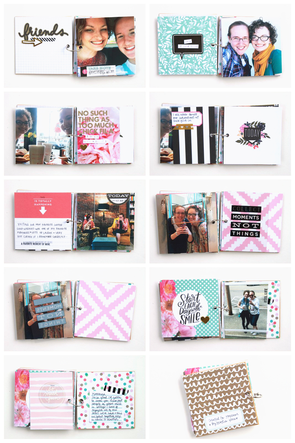 mini book created by mambi Design Team member Heather Adams using POCKET PAGES™ cards | me & my BIG ideas