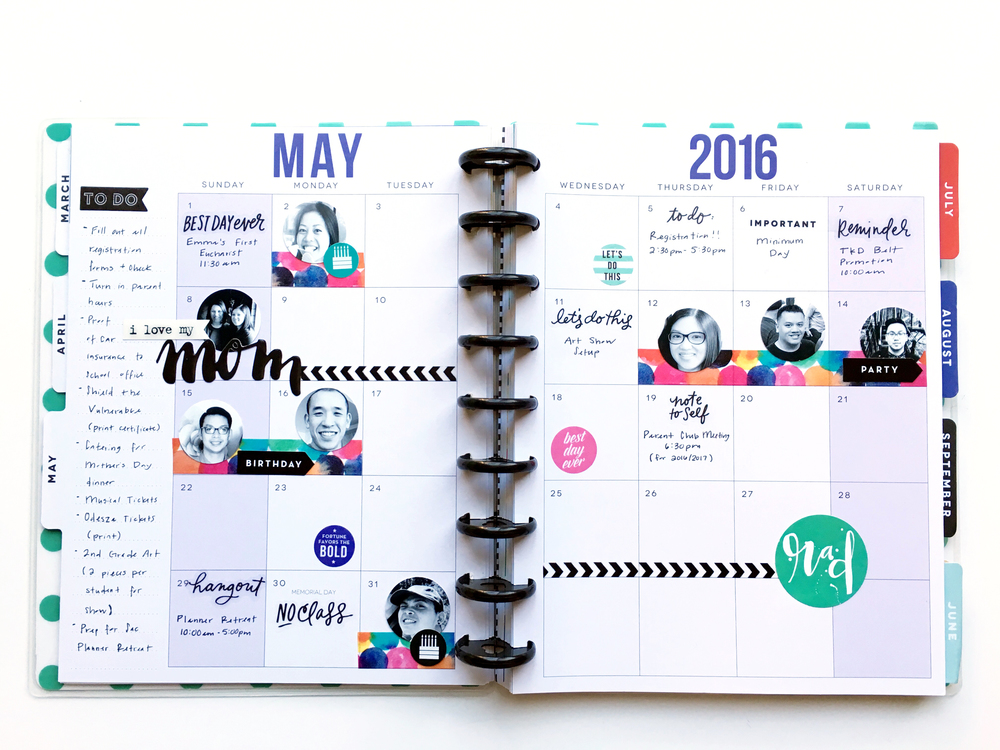 May monthly spread by mambi Design Team member Theresa Doan remembering mom | me & my BIG ideas