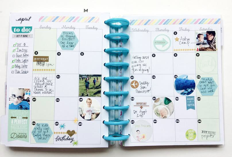 3 months of monthly spreads in The Happy Planner™ of mambi Design Team member Jen Randall | me & my BIG ideas