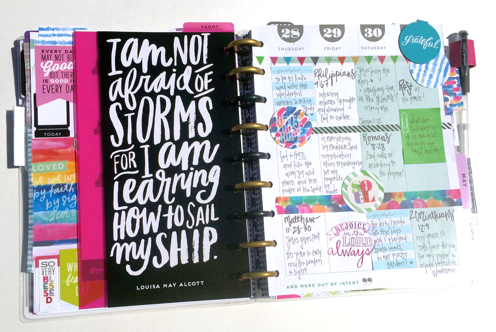 The happy planner custom made gratitudefaith planner me my