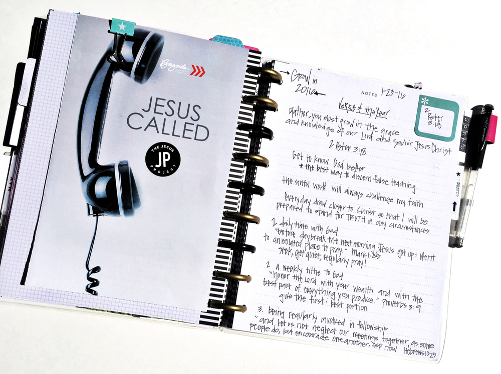 a custome-made Gratitude/Faith Planner by mambi Design Team member Casie Guiterrez using The Happy Planner™ system | me & my BIG ideas