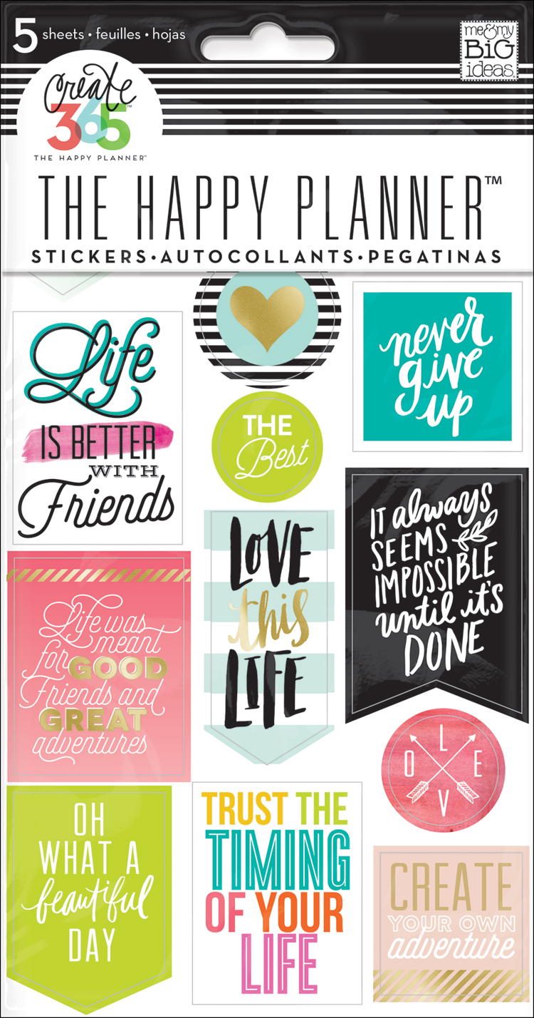 Life quotes stickers for the happy planner me