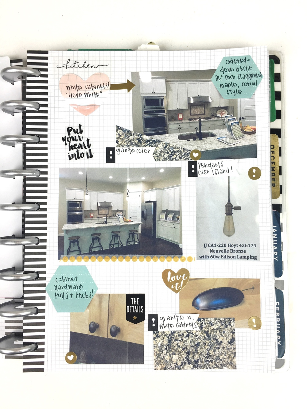 a Home Renovation Planner by mambi Design Team member Chantal Stevens using The Happy Planner™ system | me & my BIG ideas