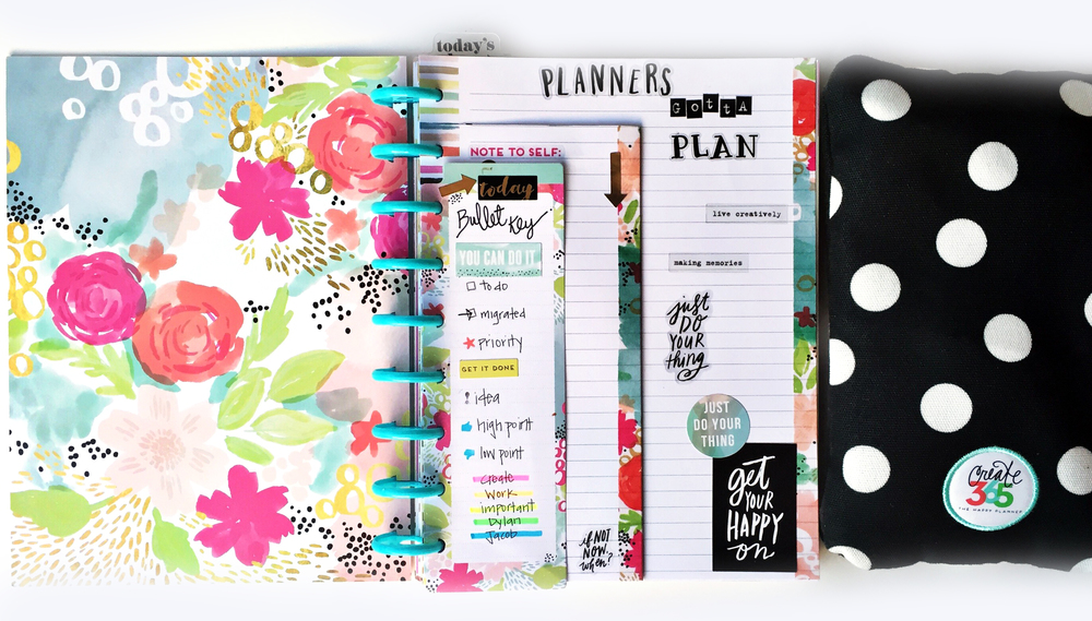 storage case organization & bullet journalling w/ new stamps in The Happy Planner™ of mambi Design Team member Casie Gutierrez | me & my BIG ideas