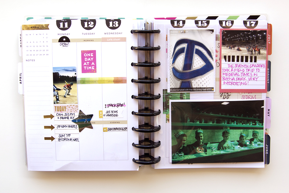 a week of memory planning in The Happy Planner™ of mambi Design Team member Jennie McGarvey using new products from our 4/25 release   me & my BIG ideas