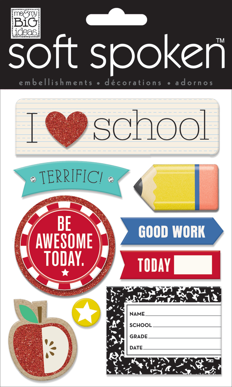 'I Heart School' SOFT SPOKEN™ dimensional sticker | me & my BIG ideas.jpg