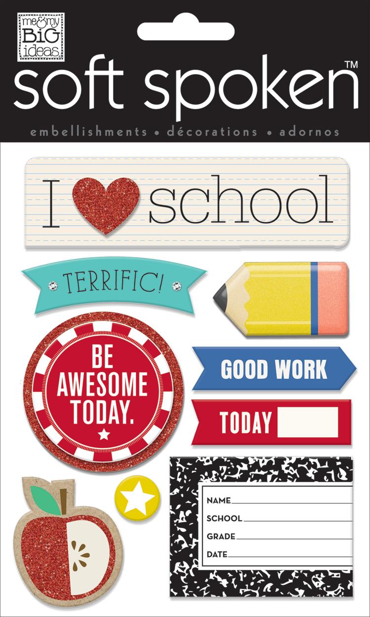 'I Heart School' SOFT SPOKEN™ dimensional sticker   me & my BIG ideas.jpg