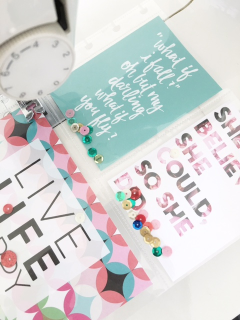 embellishing POCKET PAGES™ to use in your Happy Planner™ by mambi Design Team member Thuy Bui   me & my BIG ideas