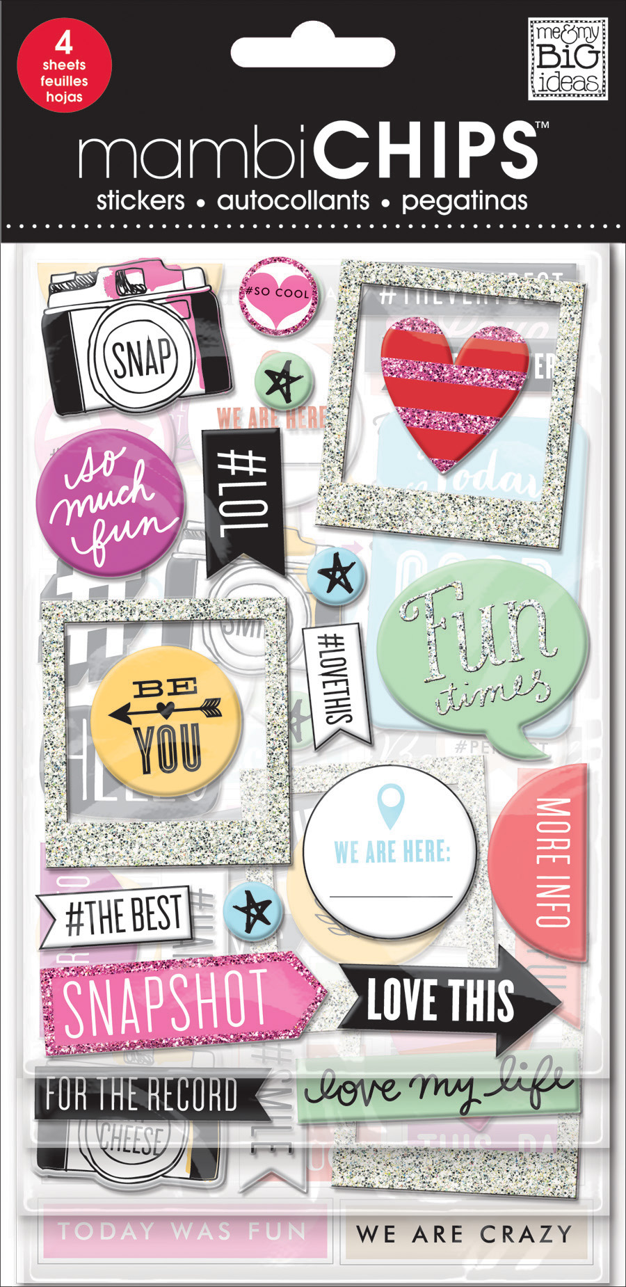 'Insta Love' mambiCHIPS chipboard stickers | me & my BIG ideas.jpg