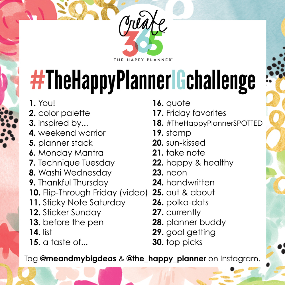 #TheHappyPlannerIGchallenge for June 2016 | me & my BIG ideas