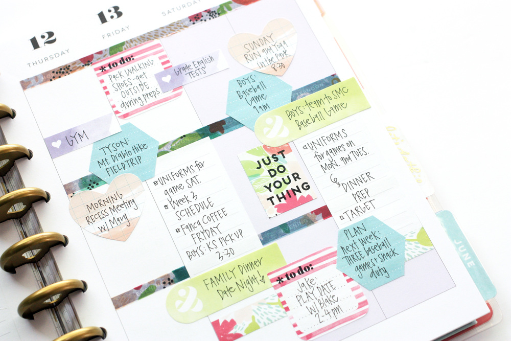a week of watercolor sticky notes in the Happy Planner™ of mambi Design Team memeber April Orr | me & my BIG ideas