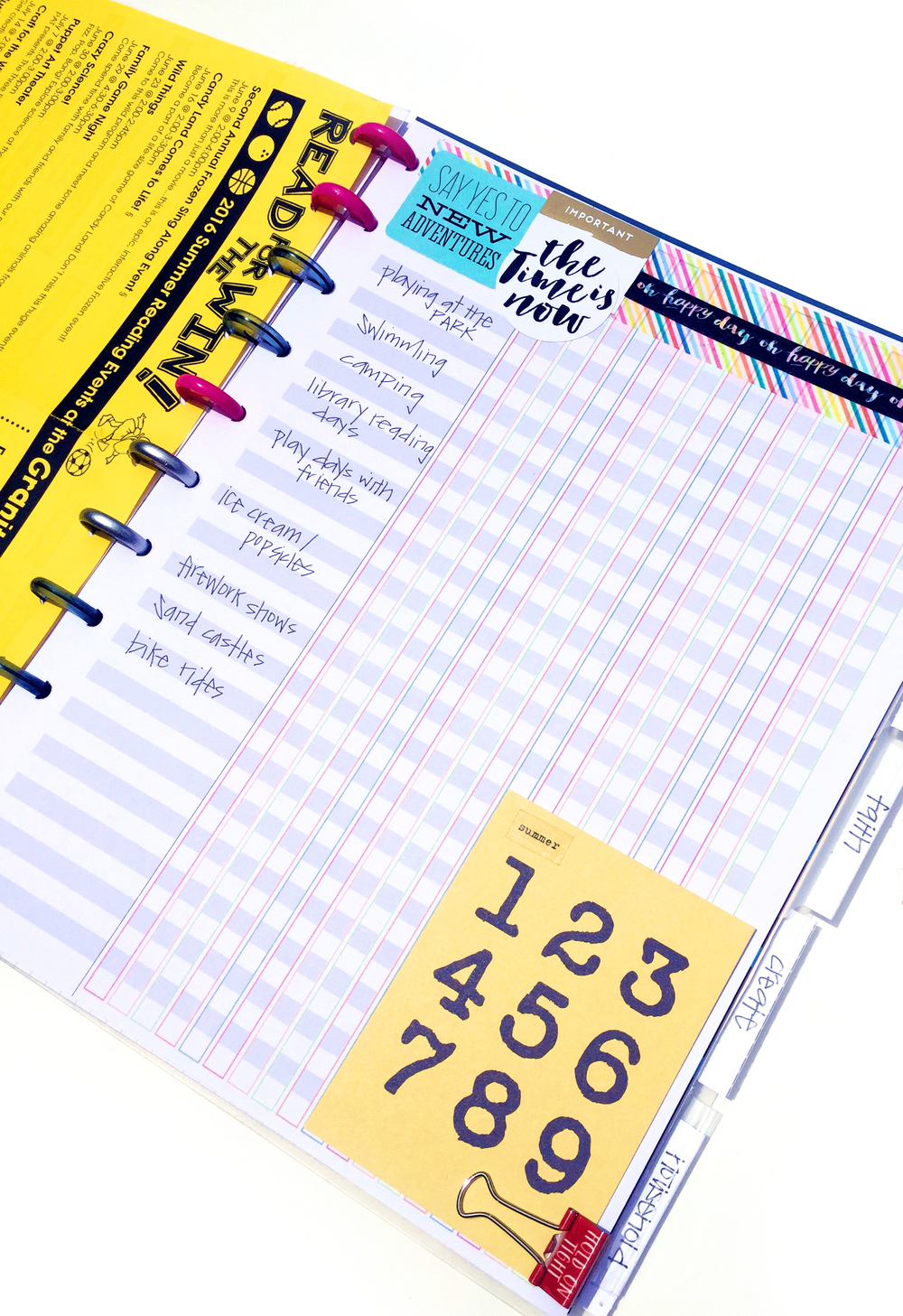 turning the Teacher Planner into a Summer Planner by mambi Design Team member Casie Gutierrez | me & my BIG ideas