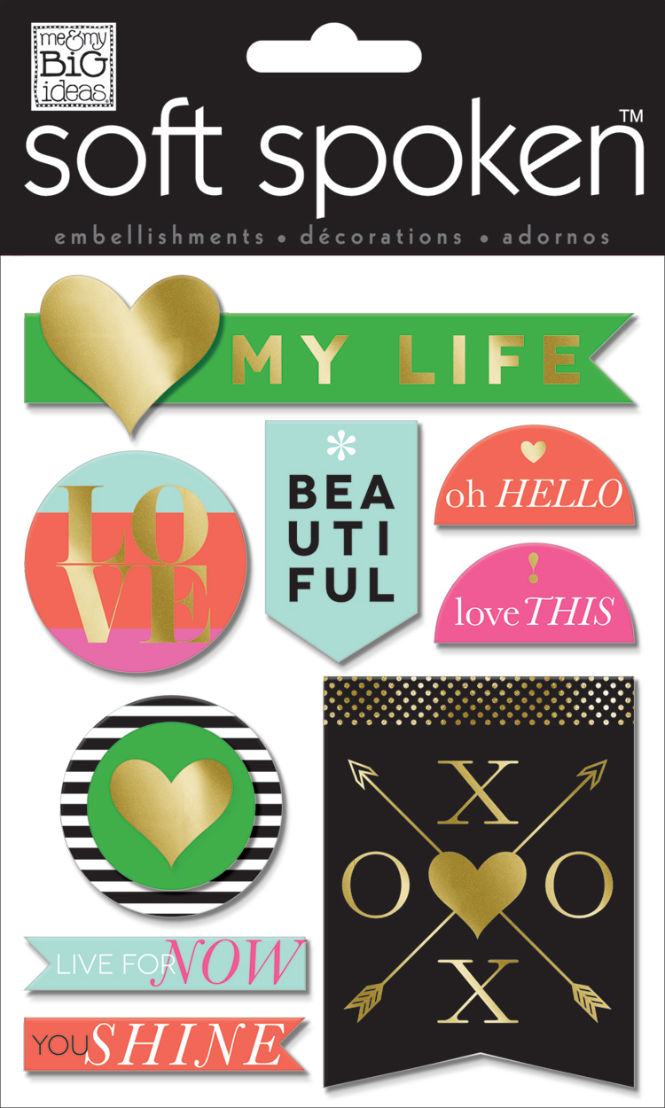 'My Life' SOFT SPOKEN dimensional embellishment stickers | me & my BIG ideas.jpg