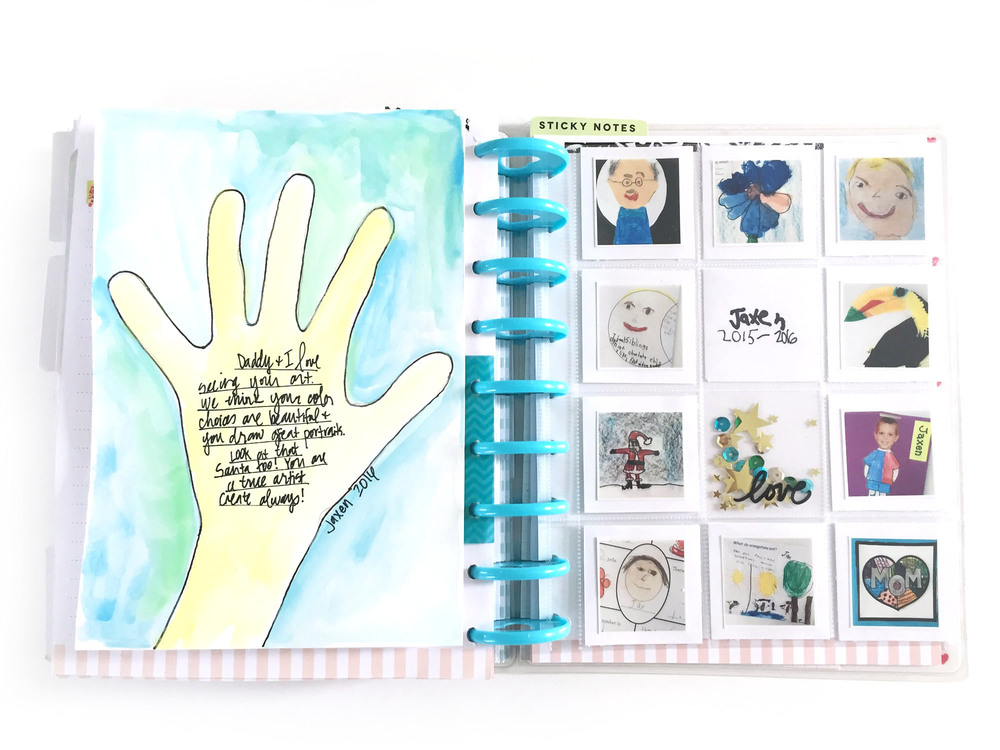end of school year art in The Happy Planner™ of mambi Design Team member Jen Randall | me & my BIG ideas