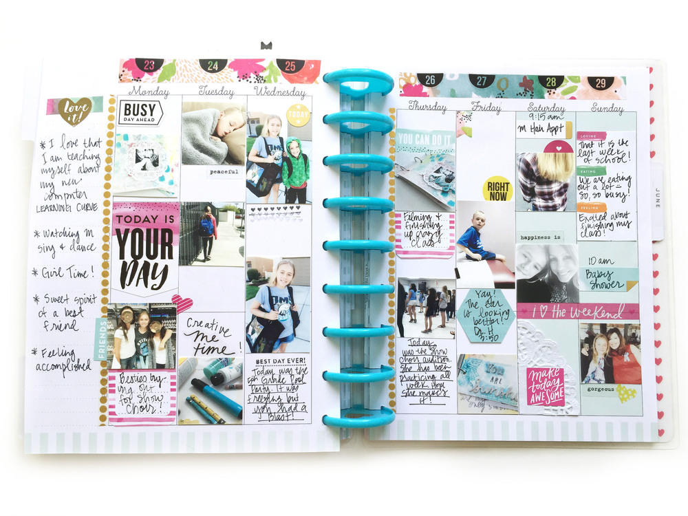 full month of May memory keeping in The Happy Planner™ of mambib Design Team member Jen Randall | me & my BIG ideas