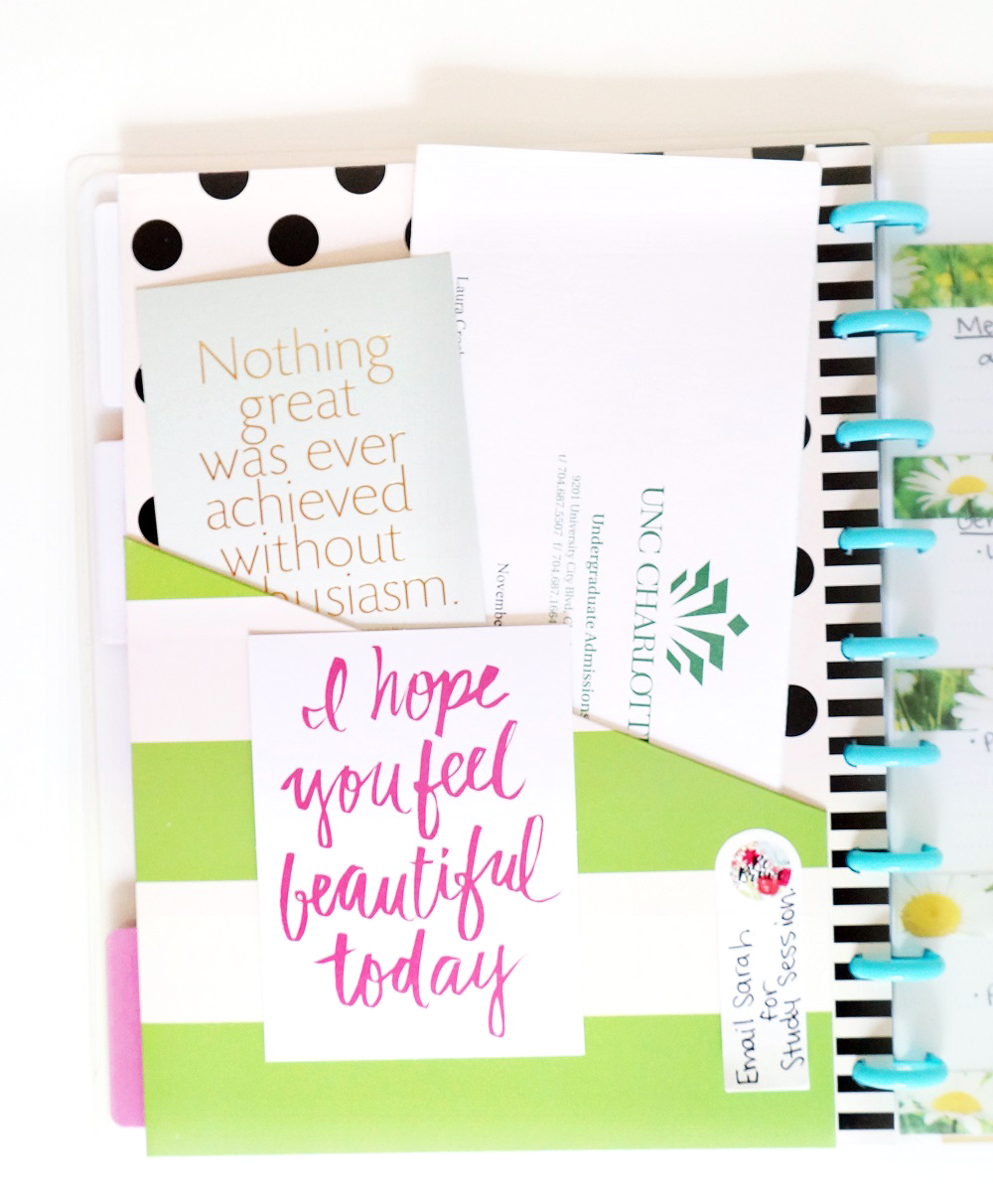 using The Happy Planner™ for school/college notes by mambi Design Team member Laura Crosby | me & my BIG ideas