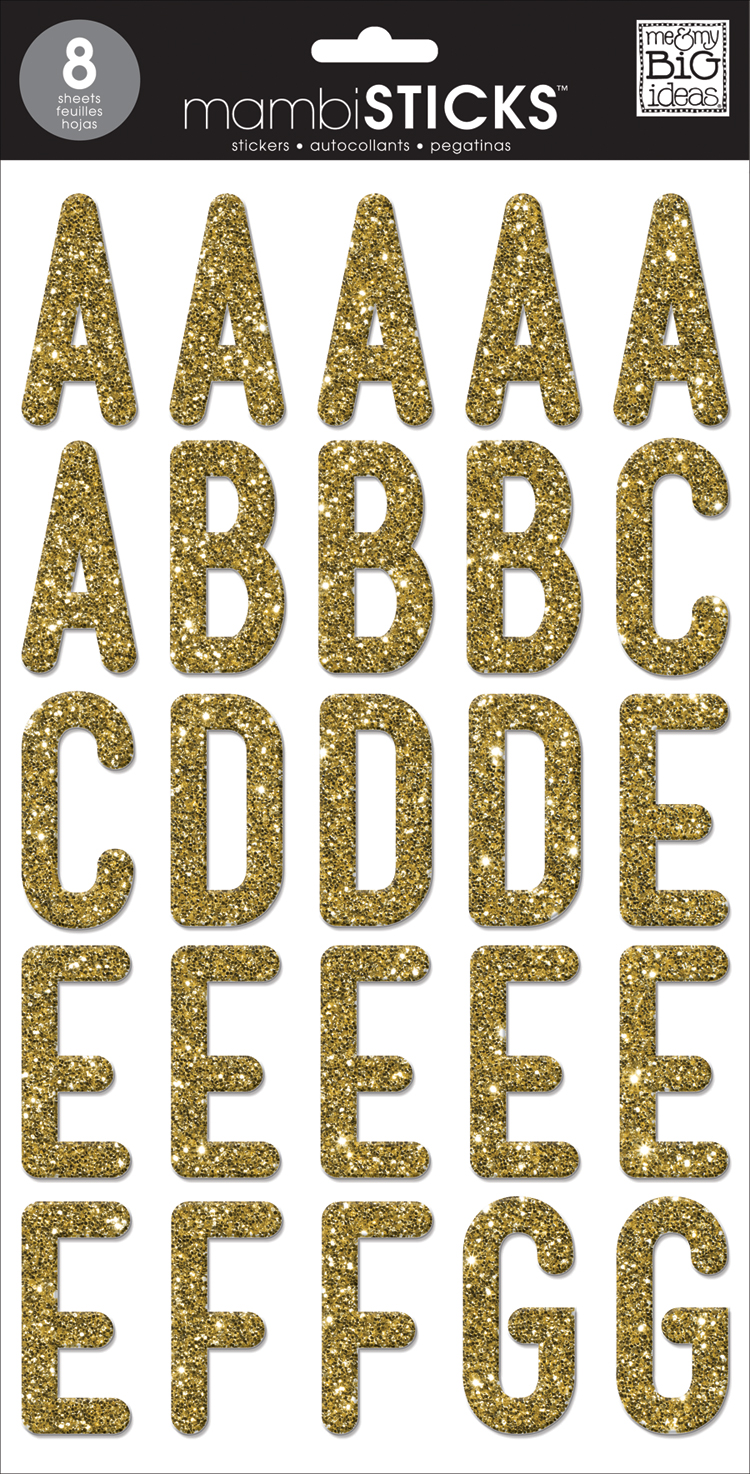 Uppercase Medium Gold Glitter mambiSTICKS alphabet stickers | me & my BIG ideas.jpg