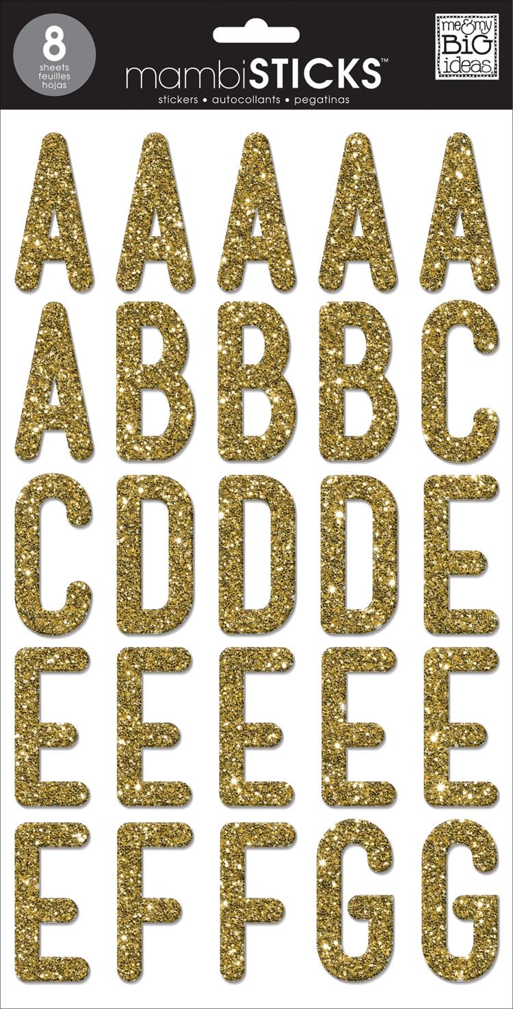 Uppercase Medium Gold Glitter mambiSTICKS alphabet stickers | me & my BIG ideas.jpg