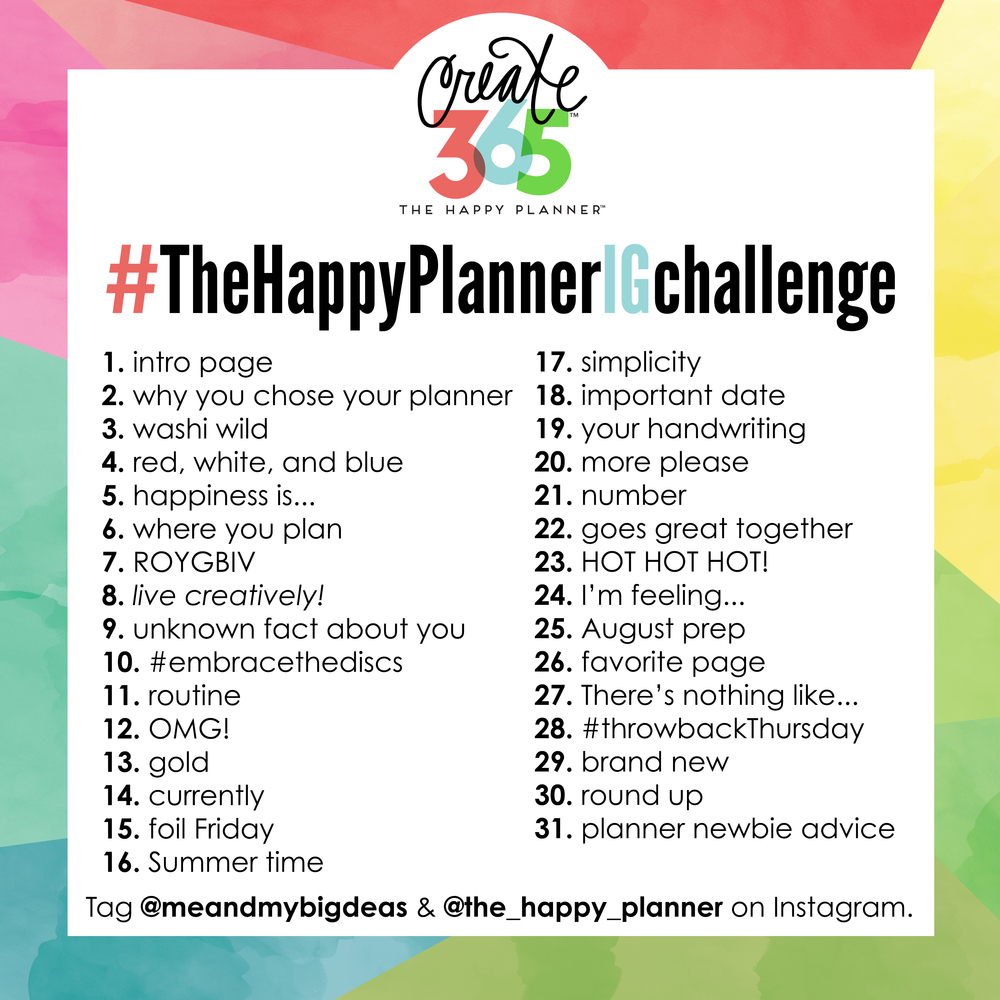#TheHappyPlannerIGchsallenge for JULY 2016