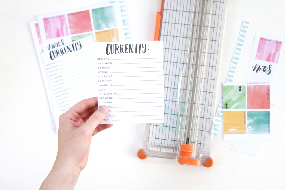 transferring a 'CURRENTLY' list from Happy Planner™ to another by mambi Design Team member Heather Adams | me & my BIG ideas