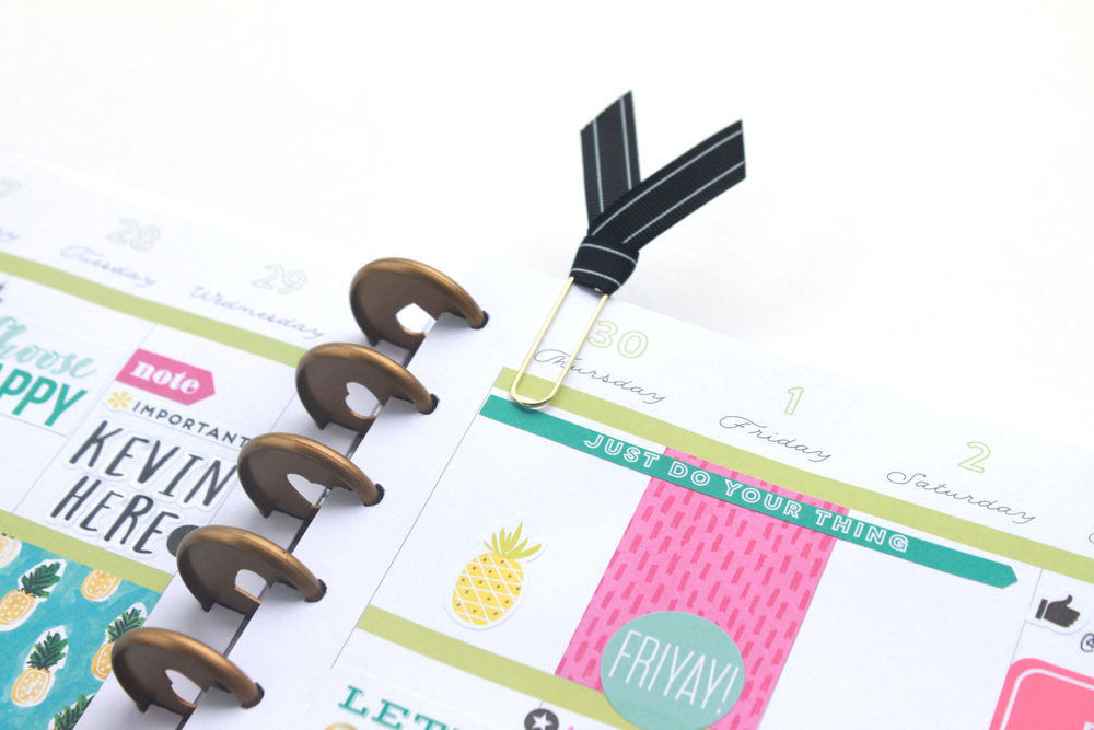 summertime in The Happy Planner™ of mambi Design Team member Heather Adams with new products | me & my BIG ideas