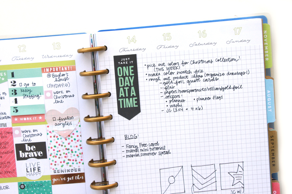 One sided happy planner weekly spread w grid paper cover for Room planning grid