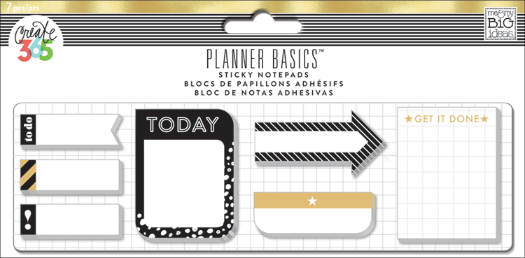 'Black & Gold' Planner Basics2 Sticky Notes for The Happy Planner™ | me & my BIG ideas.jpg