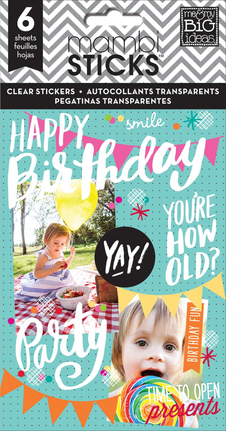 'Happy Birthday' mambiSTICKS birthday sticker value pack | me & my BIG ideas.jpg