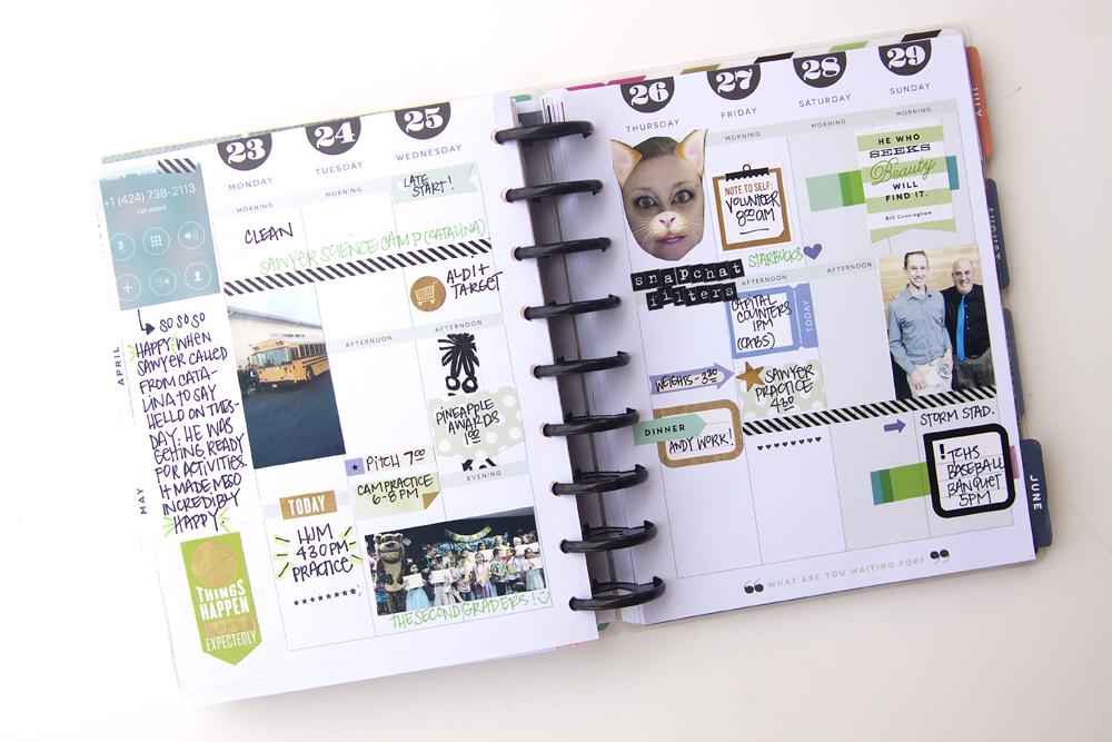 memory planning in The Happy Planner™ of mambi Design Team member Jenniw McGarvey | me & my BIG ideas