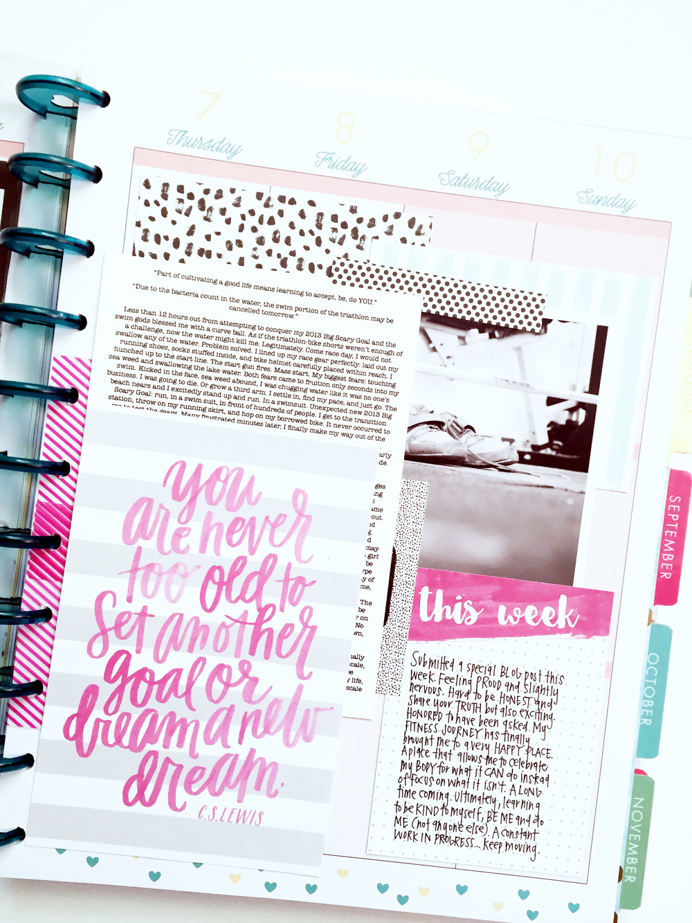 a memory keeping layout in the BIG 'Stay Golden' Happy Planner™ of mambi Design Team member April Orr | me & my BIG ideas