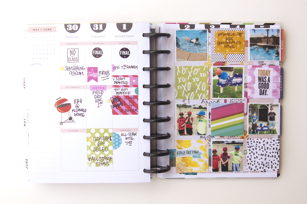 memory planned week in the 'Year in the Life' Happy Planner™ of mambi Design Team member Jennie McGarvey | me & my BIG ideas