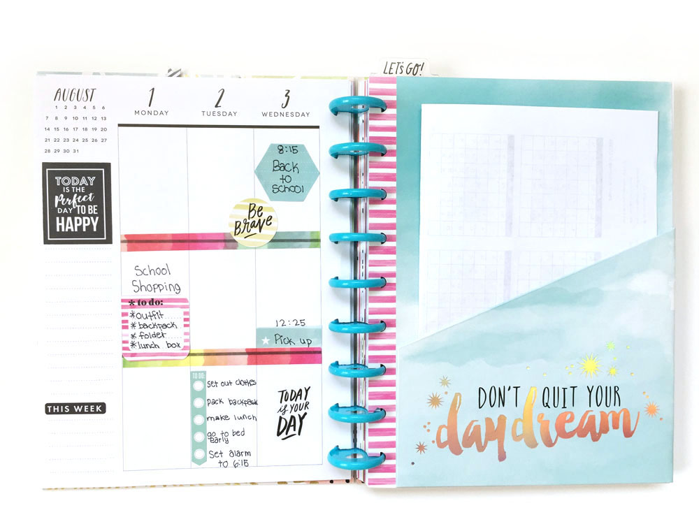 setting up The Happy Planner™ Student Edition with her daughter by mambi Design Team member Jen Randall | me & my BIG ideas