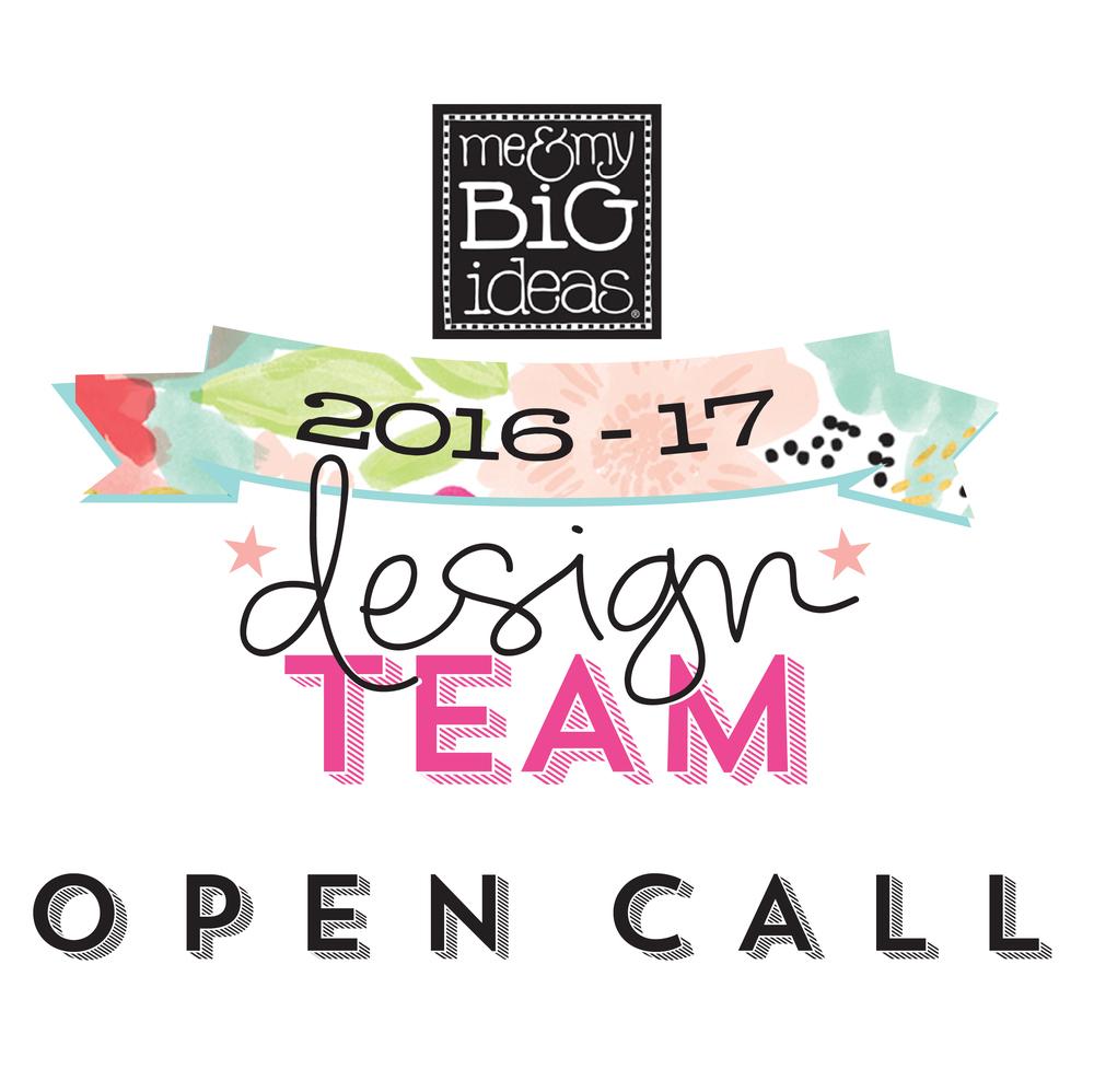 2016-2017 mambi Design Team OPEN CALL | me & my BIG ideas