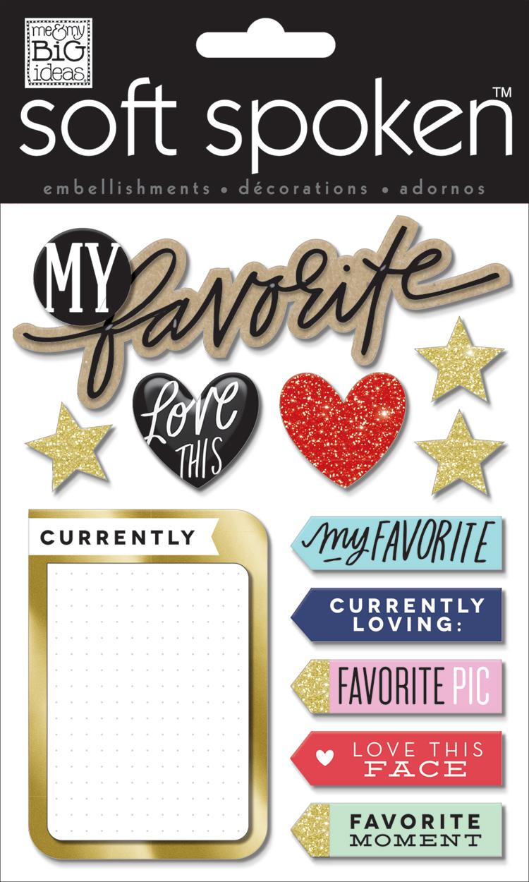'My Favorite' SOFT SPOKEN™ dimensional embellishment stickers   me & my BIG ideas.jpg