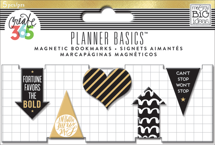 'Black & White' Planner Basics™ magnetic bookmarks for The Happy Planner™ | me & my BIG ideas.jpg