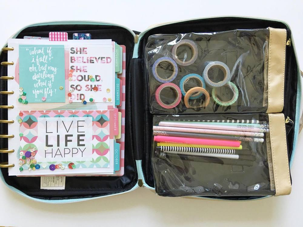 a peek inside The Happy Planner™ Storage Case of mambi Design Team member Thuy Bui | me & my BIG ideas